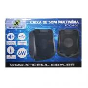 CAIXA DE SOM USB 6W RMS X-CELL XC-CM-05 PRETA