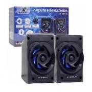 CAIXA DE SOM USB 6W RMS X-CELL XC-CM-06 PRETA