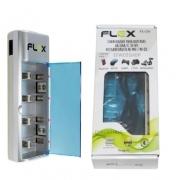 CARREGADOR DE PILHA AA/AAA/C/D/9V FLEX FX-C06