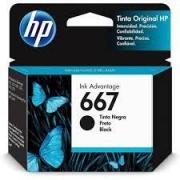 CARTUCHO DE TINTA 3YM79AB HP 667 2ML PRETO