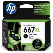 CARTUCHO DE TINTA 3YM81AL HP 667XL 8,5ML PRETO