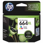 CARTUCHO DE TINTA F6V30AB HP 664XL TRICOLOR 8,5ML