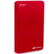 CASE PARA HD 2,5 USB 3.0 C3TECH CH-300RD VERMELHA