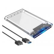 CASE PARA HD 2.5 USB 3.0 F3 CS-U3T / DEX DX-2530T TRANSPARENTE