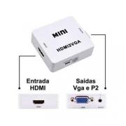 CONVERSOR DE VIDEO HDMI X VGA C/ AUDIO HDMI2VGA EXBOM