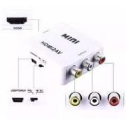 CONVERSOR HDMI X 3RCA FEMEA EXBOM HDMI2AV