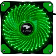 COOLER FAN 12X12 LED G-FIRE VERDE EW1712N