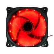 COOLER FAN 12X12 LED G-FIRE VERMELHO EW1512E
