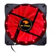 COOLER FAN 12X12 LED G-FIRE VERMELHO EW1712E