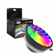 COOLER PARA PROCESSADOR INTEL E AMD LED RGB DEX DX-7000