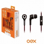 FONE DE OUVIDO C/ MICROFONE OEX FN-200 PRETO