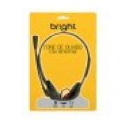 FONE DE OUVIDO COM MICROFONE BRIGHT 0010 PRETO