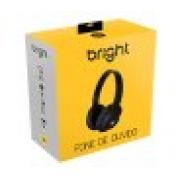 FONE DE OUVIDO COM MICROFONE BRIGHT 0463 PRETO