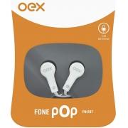 FONE DE OUVIDO COM MICROFONE POP OEX FN-207 BRANCO