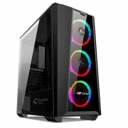 GABINETE GAMER S/FONTE C3TECH MT-G800BK PRETO
