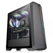 GABINETE GAMER S/FONTE VIDRO TEMPERADO RGB THERMALTAKE H350 PRETO