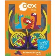 HEADPHONE DINO INFANTIL OEX KIDS HP-300
