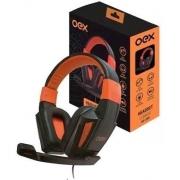 HEADSET GAMER COMBAT OEX HS-205 PRETO/LARANJA