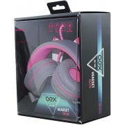HEADSET NEON STEREO OEX HS-106 ROSA