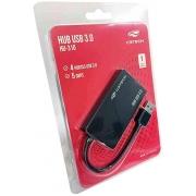 HUB USB 3.0 04 PORTAS C3TECH HU-310 PRETO