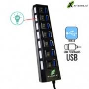 HUB USB 3.0 7 PORTAS X-CELL XC-HUB-7 PRETO