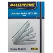 LAMINA PARA ESTILETE 18MM MASTERPRINT MP452 (PCT C/ 10 UNIDADES)