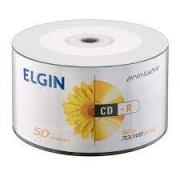 MIDIA CD-R 52X PRINTABLE 700MB/80MIN PINO COM 50 UND. ELGIN