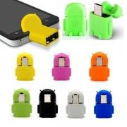 MINI ADAPTADOR V8 MICRO USB / USB FEMEA EXBOM