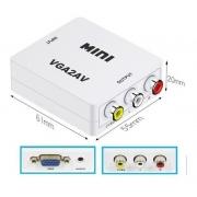 MINI CONVERSOR VGA X 3RCA COM AUDIO VGA2AV EXBOM