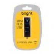 MINI HUB USB 2.0 04 PORTAS BRIGHT 0059 PRETO