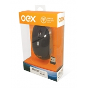 MOUSE SEM FIO 1600DPI 2.4GHZ FLAT OEX MS-401 PRETO