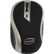MOUSE SEM FIO 1600DPI WAVE NEWLINK MO112 PRETO/PRATA