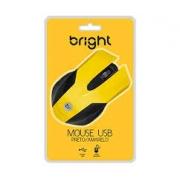MOUSE USB 1000DPI BRIGHT 0378 PRETO/AMARELO