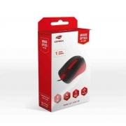 MOUSE USB 1000DPI C3TECH MS-20RD PRETO/VERMELHO