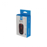 MOUSE USB 1000DPI HOOPSON MS-038 PRETO/VERMELHO