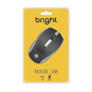MOUSE USB 800DPI BRIGHT 0028 PRETO/PRATA