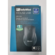 MOUSE USB 1200DPI INFOWISE 2021 PRETO