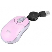 MOUSE USB RETRATIL ROSA PISC 01845