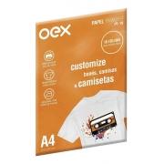 PAPEL TRANSFER PARA CAMISETAS A4 210X297MM 10 FOLHAS OEX PT-10