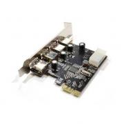 PLACA PCI-E COM 4 USB 3.0 DEX DP-43 / JC-PCI-3.0