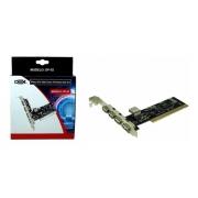 PLACA PCI USB 2.0 COM 05 PORTAS DEX DP-52