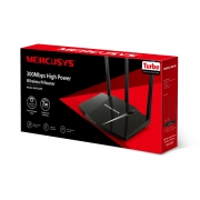 ROTEADOR WIRELESS 300MBPS 1000MW 3 ANT. MERCUSYS MW330HP