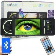 SOM AUTOMOTIVO EXBOM  ( FM / CARTAO / USB / AUXILIAR )