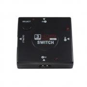 SWITCH HDMI 03 ENTRADAS E 01 SAIDA X-CELL XC-HUB-HDMI