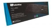 TECLADO USB BASICO INFOWISE PRETO 1001