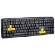 TECLADO USB GAMER BASIC BRIGHT 0551 PRETO/AMARELO
