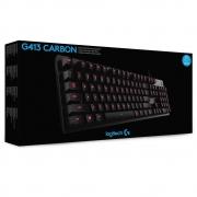 TECLADO USB GAMER CARBON LOGITECH G413 PRETO
