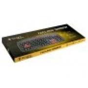TECLADO USB GAMER  MULTIMIDIA BRIGHT 0482 PRETO/VERMELHO