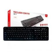 TECLADO USB PADRAO C3PLUS KB-11BK PRETO