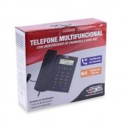 TELEFONE COM IDENTIFICADOR E VIVA-VOZ FORCE LINE 891 PRETO